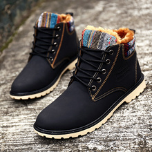 XiaGuoCai 2017 High Top Fashion Men Boots Warm Waterproof Military Winter Boots for Men Leather Tactical Shoes X9 35