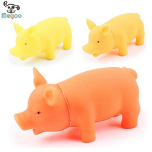3pcs/lot  Pet Puppy Squeaky Toy Mini Pig Rubber Dog Toy 9*3.5*3.8cm