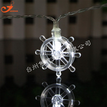 New 10 LED Rudder Conch Starfish Ocean Lamp String Starry Fairy Lights Garden Kids Bedroom Ornament Spring Fresh Mini Lamp Party