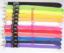 10x Custom lanyard Multicolor Blank plain Mens/Womens neck Lanyard Strap/Badge ID Detachable Keychain/Cell Holder, 12 colors