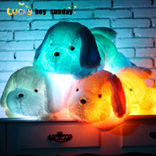 50cm 80cm Dog PlushToy Cute Light Puppy Pillow Flashing LED Light Toy Glowing In The Dark Kids Toys  Gift for Children