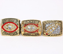 USA Size 8 to 14! 1982 1987 1991(3pcs) Washington Redskins Super Bowl world championship rings replica solid ring drop shipping(China)