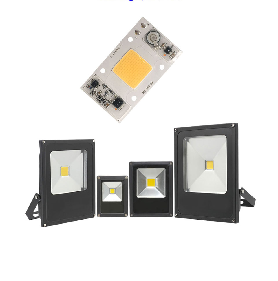 Full Spectrum COB LED Lamp 50W 95% RA 220V AC COB Chip Smart IC for Plant Frow Lights Floodlight Lighting Source Warm Cold White (10)