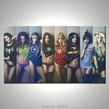 Comics Marvel Avengers Super Heroes Poster Canvas Prints HD HOME WALL Decor ART Pictures Wallpaper Spray Cartoon Picture Cuadros(China)