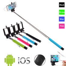 Z07-5S 100CM Extendable Handheld Selfie Stick With Remote Shutter Button 3.5mm Cable Wired selfie Monopod For Android IOS Phone