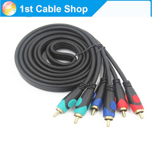 3 RCA Component Video Cable RGB Ypbpr cable 6ft 1.8M gold-plated OFC conductor High quality