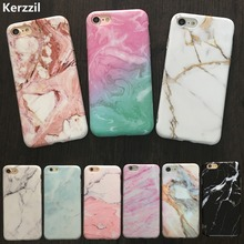 Kerzzil IMD Marble Stone Rock Case For iPhone 7 6 6S Plus Colorful Soft Silicone Granite Cover Back For iPhone 6 7 6S Fundas