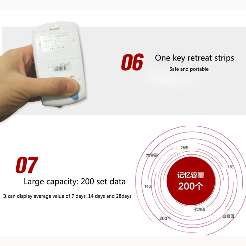 NEW Safe Accurate Blood Glucose Meter Level 10 Seconds Quick Test Glucometer Blood Sugar Monitor Meter 150pcs strips And Needle (5)