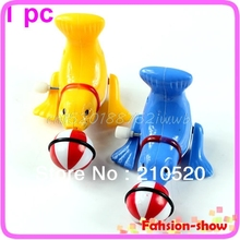 1Pc New Funny Clockwork Wind Up Lovely Dolphin Children Kids Party Toy Gift #T026#(China)