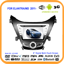 car dvd GPS navigator player 8''HD Capacitive Screen Android 5.1 WIFI Quad Band TV Mirror link RDS For HYUNDAI ELANTRA MD 2011