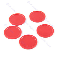 "10pcs/lot Red Air Hockey Table Mini Puck 50mm 2"" Puck Children Arcade Game(China)"