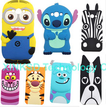 3D Cute Silicone DESPICABLE ME Minions Cheshire Tiger Sulley Alice Cat Zebra Dog Cartoon Phone Case For Samsung Galaxy J7 J700(China)