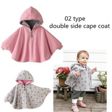New 2017 Fashion Combi Baby Coats boys Girl's Smocks Outwear Fleece cloak Jumpers mantle Children's clothing Poncho Cape