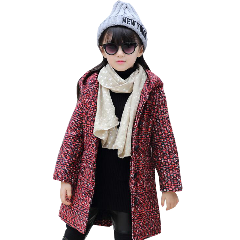 New Fashion Kids Jackets Childrens Autumn Coats Girl Outfits Jacket Warm Jacket For Girls Kids Winter Woolen Coat Teenager Coat<br>