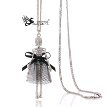 Long Chain Red Nobility Of Popular Style Metal Doll Necklace