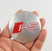 4Pcs for audi RS A4 R8 A8 A7 New 56mm Wheel Center Hub sticker Caps Cars Wheel Center Hub Cover sticker RS Emblems car styling(China)