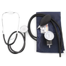 Professional Medical Aneroid Blood Pressure Measure Device Monitor Cuff Travel w/ Pouch
