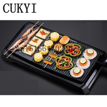 CUKYI household Electric Grills & Electric Griddles Barbecue Smokeless Plate Multifunctional frying pan