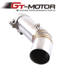 GT Motor - Free Shipping Motorcycle Exhaust middle pipe for SUZUKI GSXR600 k8 2008 Slip-On(China)