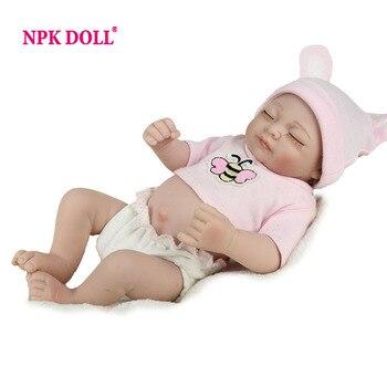 Npkdoll 10 pulgadas llena de vinilo muñeca renacida bebé realista baby doll bonecas para niñas