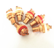 10pcs high quality CMC red copper plated RCA Socket audio rca jack RCA terminals Amplifier Copper RCA socket Plug