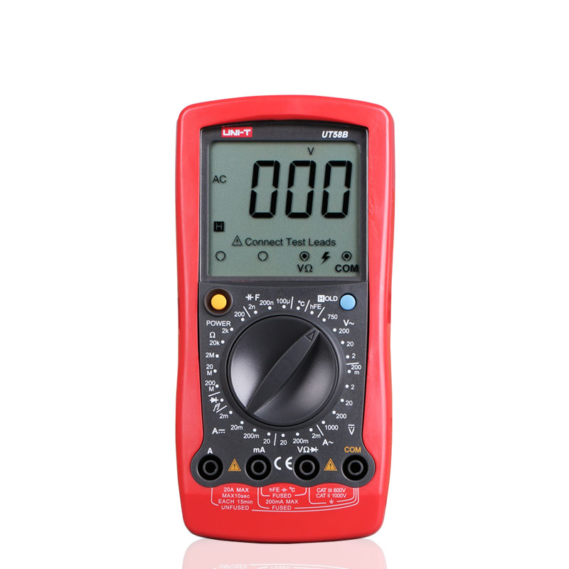 2016 UNI-T UT58B General Manual Digital Multimeters w/ Temperature test LCR Meter Ammeter Multitester Multimetro<br>