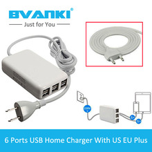 [Bvanki] 50Pcs/Lot Buy China Direct Wall Charger For Smartphone EU,US,UK Plus With 1.5m Line Cable USB Home Charger Adapter