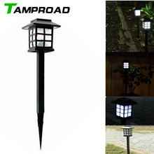 TAMPROAD 4Pcs Retro Outside Stake Light Waterproof Solar Lawn Lamp Spotlight LED Path Landscape Hallway Outdoor Garden Lighting(China)