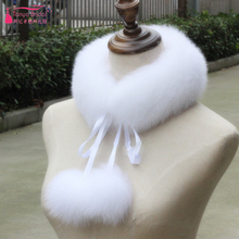 Wedding Bolero Fur neckerchief with Hairball winter Bridal Accessories Women Evening fur Cape Dresses Decorations Z987(China)