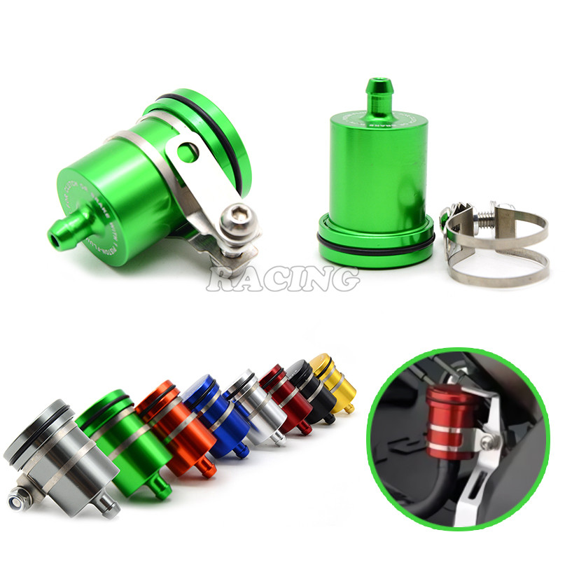 Universal Motorcycle Brake Fluid Reservoir Clutch Tank Cylinder Master Oil Cup For honda vfr 800 goldwing gl1800 cb 600 hornet<br><br>Aliexpress