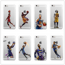 Sport NBA Basketball Super Star Phone Cases Transparent Hard plastic Cover for iPhone 5 5C SE 6 6s 6Plus 7 7plus Coque(China)