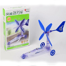 Build Your Own Wind Powered Car Older Boys Educational Kit Toys(China)