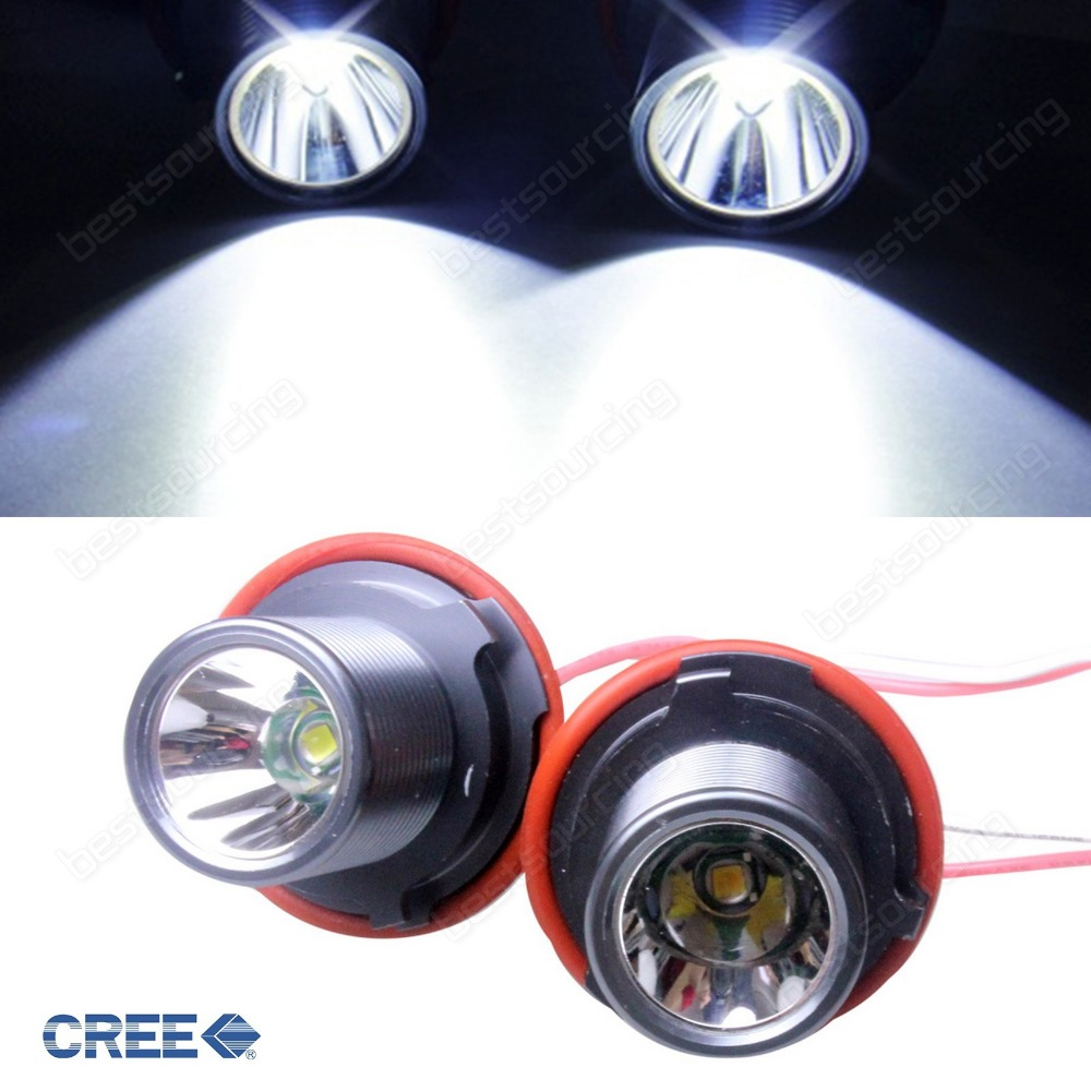 Angel Eyes Halo Ring 10W CREE LED Light Marker Bulb Canbus No Error White E87 E39 E60 E61 E63 E64 E65 E66 E83 E53 (CA140)<br>