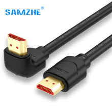 SAMZHE HDMI Cable 90 Degree Angle HDMI to HDMI Cable 2K*4K 1M 1.5M 2M 3M 5M 1080P 3D for TV PC Projector PS3 PS4