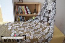 Black White Creative design beetle lace fabric wedding dress fashion dress lace DIY accessories