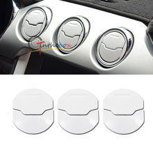 White Brushed Air Vent Nozzle Bezel Cover for 2015-up Mustang Ford GT V6 Shelby