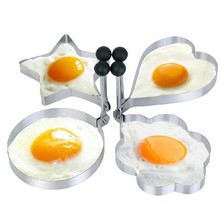 4Pcs/Set Stainless Steel Cooking Fried Egg Pancake Ring Mold Shaper 4 Kind Shaped kitchen tools Gadget
