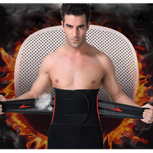 Men Adjustable Waist Training Cincher Belt Fitness Waist Support Body Shaper Belly Corset with Burning Fever Lingerie Magic Pad