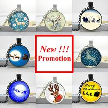 photo New Fashion Deer Necklace Nightmare Before Christmas Pendant Glass Photo Cabochon Necklace