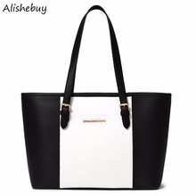 Women Handbags Elegant Ladies Leather Handbags Shoulder Contrast Splicing Messenger Bags Work Party Casual OL Handbag SVN030881