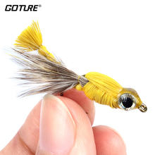 Fly Fishing Lure Bait Set Acridid Locust Dry Flies Insect for Carp Bass Salmon Fishing with 8# Hook For Fishing(China)