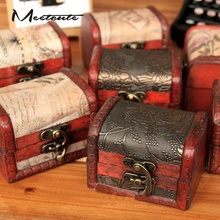 Meetcute Classic Pattern Design Wood Jewelry Box for Jewelry Carring Display Cheap Price 1pcs Random Color(China)