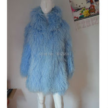 SJ034-01 Winter Fur Coat Jacket for Women Genuine Real Lamb Fur Outerwear Coats with Hood Size L to 6XL Plus Size Hoodies