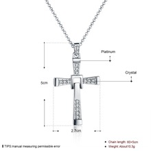 Mens 65cm Chains Jesus Piece of Fast and Furious Cross Pendant Necklaces Gold Necklace Snake n705 For Holiday Gift