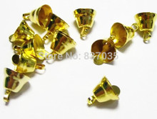 Free Shipping 100pcs / lot Retail Fashion Antique Golden Bell Charms Fit European Christmas Decor DIY 11mm