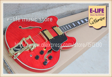 Newest Arrival China OEM Musial Instruments ES-335 Hollow Maple Body Guitar Jazz Style In Stock For Sale