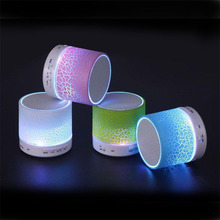 New arrival Portable Mini bluetooth speakers wireless smart hands free LED speakers Support sd card For iPhone free shipping(China)