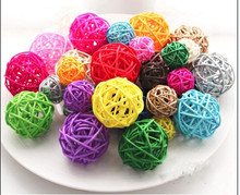 50pcs/lot  5cm Holiday Event Party Supplies Christmas Rattan Ball Wedding Decoration house decoration Ornament Craft Ball