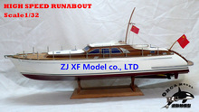 NIDALE Model European classic yacht Wooden model Holland HIGH SPEED RUNABOUT model kit simulation runabout