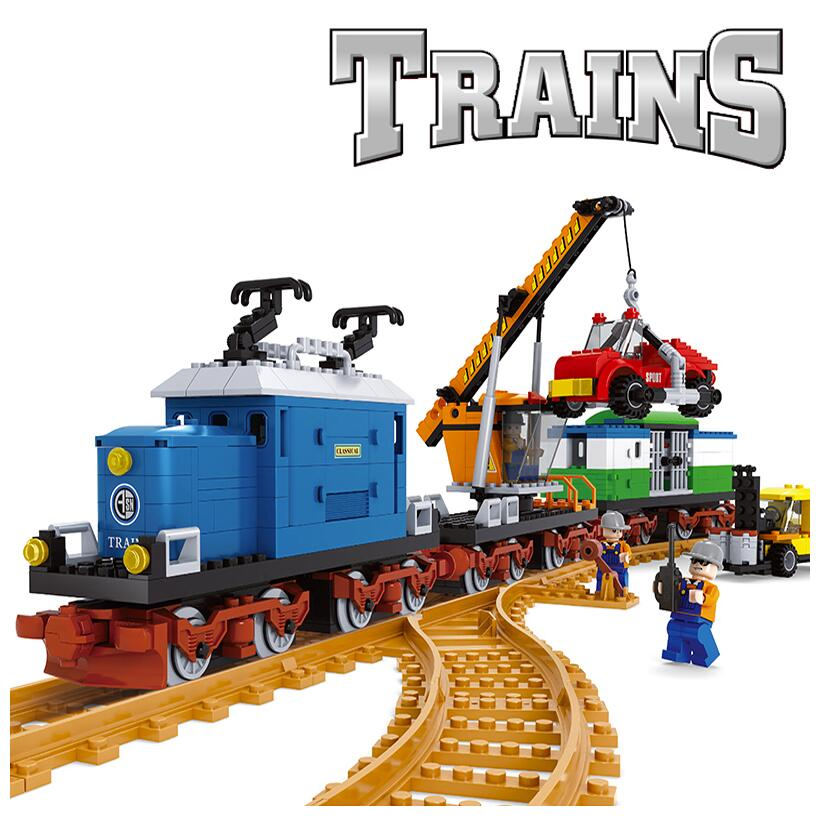 NEW 724 pcs 25709 Train Series Building Bricks Train Freight Station Building Blocks children gift(China (Mainland))